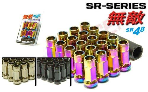 Wheelmate 32926NP Muteki SR35 Close End Lug Nut with Lock Set Neon 12 x 150 35mm