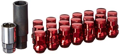 Wheelmate 32926RP Muteki SR35 Close End Lug Nut with Lock Set Red 12 x 150 35mm