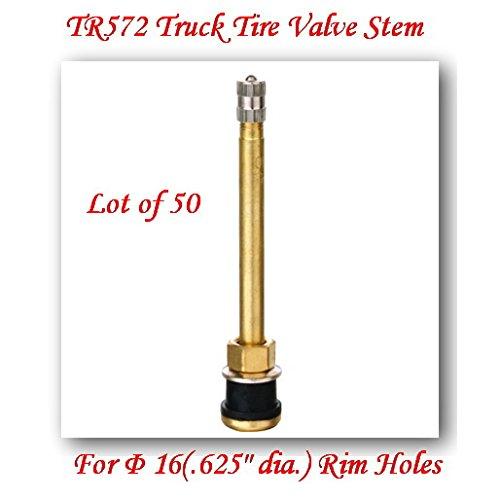 Lot of 50 TR572 Truck Tire Valve Stem Wheels 225245 for Rim Φ625Holes L4