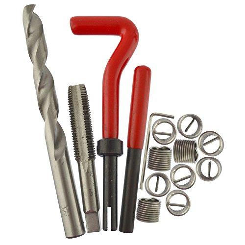 AB Tools M12 x 15mm Thread Repair kithelicoil 15pc Set Damaged Thread AN046