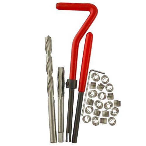 AB Tools M6 x 10mm Thread Repair kithelicoil 25pc Set Damaged Thread AN048