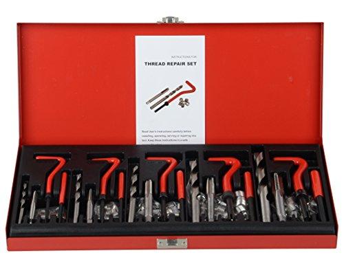 DA YUAN 131Pc Thread Repair Kit HSS Drill Helicoil Repair Kit Metric M5 M6 M8 M10 M12