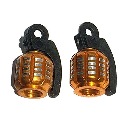 2pcs Aluminum Grenade Motorcycle Tire Tyre Valve Stem Dust Cap Cover for Harley-Davidson Sportster 1200 XR1200