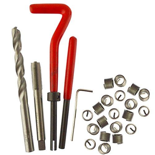 AB Tools M8 x 125mm Thread Tap Repair Cutter kit helicoil 15pc Set Damaged Thread AN063