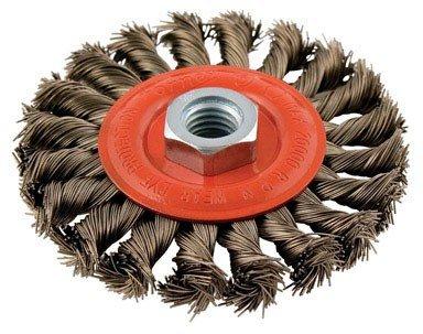 Forney Wire Wheel Brush 4  Twist Knot
