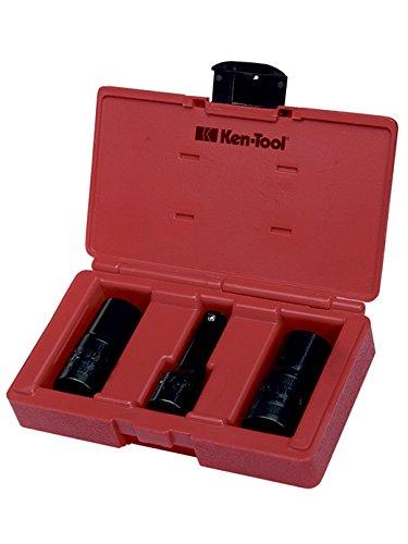 Ken-Tool 30115 3-Piece Lug and Lock Flip Socket Set