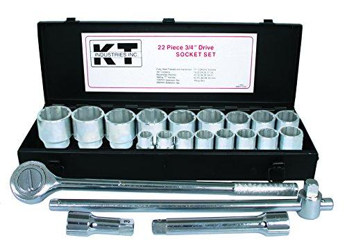 K-T Industries 1-5624 34 Drive x 21-Piece mm  Socket Set