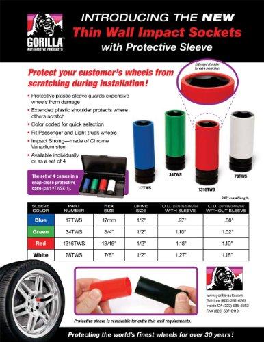 Gorilla Automotive TWSK-1 Thin Wall Socket Kit