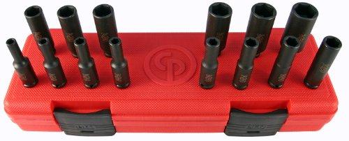 Chicago Pneumatic SS2114D 14Drive 14 Piece Metric Deep Impact Socket Set