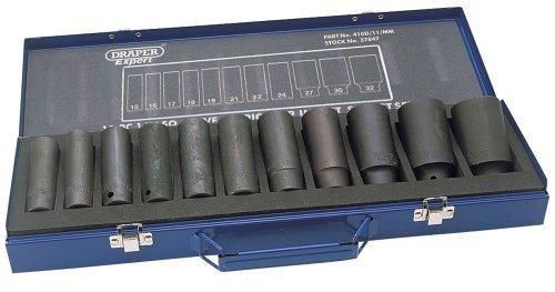 Draper Expert 37847 HI - TORQ Metric Deep Impact Sockets Set 12 Drive 11pcs by Draper