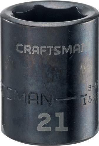 CRAFTSMAN Shallow Impact Socket Metric 12-Inch Drive 21mm CMMT15868 Renewed