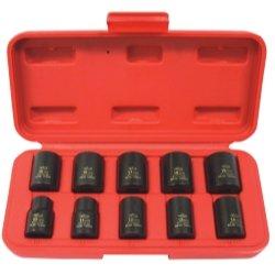 10 Piece 38 Drive Metric Standard Impact Socket Set KTI37100 Category Sockets