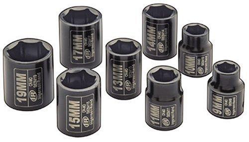 Ingersoll Rand IRTSK3M8 38-Inch Drive Metric Standard Impact Socket Set 8-Piece by Ingersoll-Rand