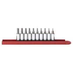 10 Piece 14 Drive SAE Hex Bit Socket Set Tools Equipment Hand Tools