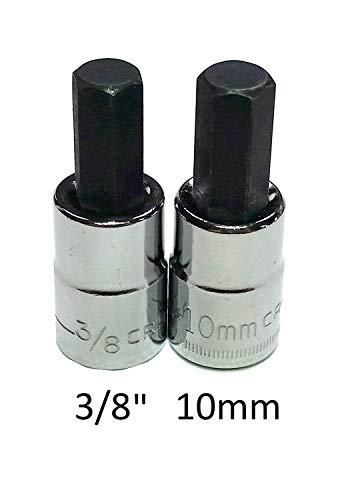 Craftsman 2 Piece SAEMm 38 Drive Hex Bit Socket Set - 38 10mm 46665 42679