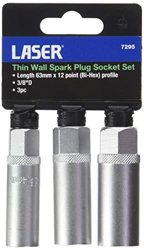 Laser 7295 Thin Wall Spark Plug Socket Set 3pc