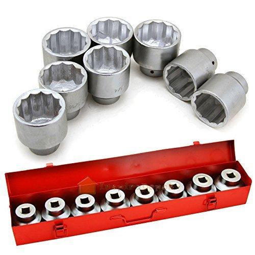 Generic  nd New Jumbo Sockets Set w metal Case Brand Ne 9PC Professional 9PC Pro Set w metal -on 34 Add-on 34 Drive Add-on 3 Case Brand New