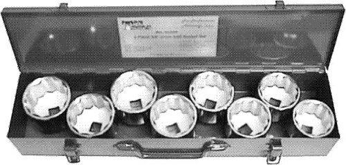 T E Tools 34 Drive 9Pc SAE Jumbo Socket Set