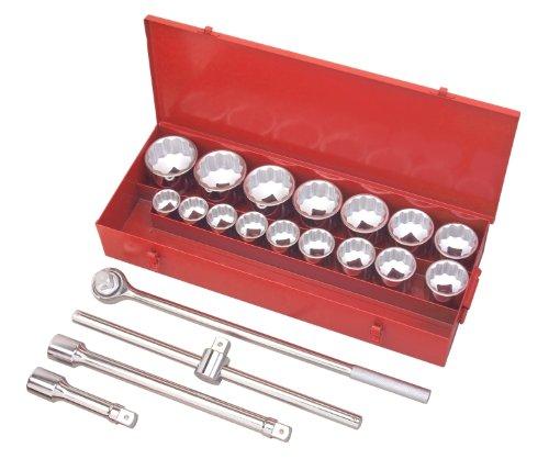 TEKTON 1120 21-pc 1 Dr Jumbo Socket Set SAE