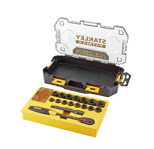 Stanley FMHT0-74716 Mini Tough Box Socket Wrench YellowBlack 12-Inch Set of 17 Pieces