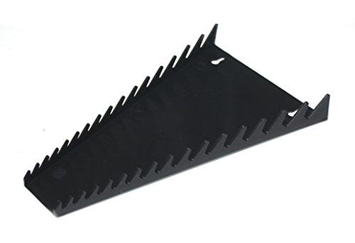 JSP Manufacturing 16 Tool Standard Wrench Holder Rack Organizer Black Made in USA