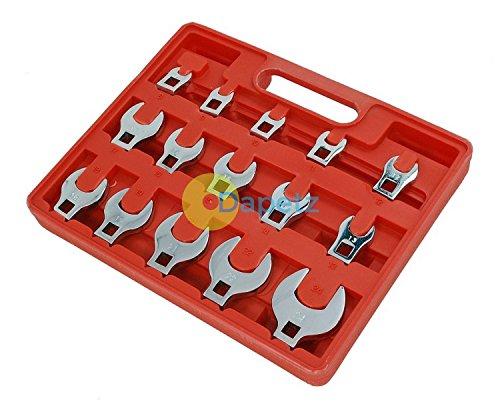 Dapetz 15Pc Crow Foot Spanner Set 38 Drive Crowfoot Socket Wrench Heads 8 - 24mm New